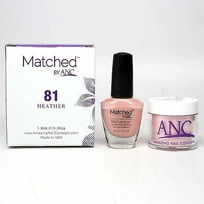 ANC Amazing Nail Concepts Matched kit # 81 Heather