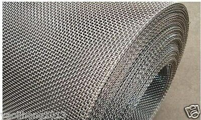 """Stainless Steel Woven Wire Mesh 4 mesh 6"""" x 6"""" Type 304 (filter grading sheet)"""