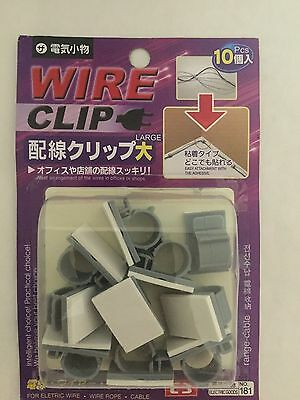 10x new Cable Clips Adhesive Cord Management Organizer Wire Holder US free ship