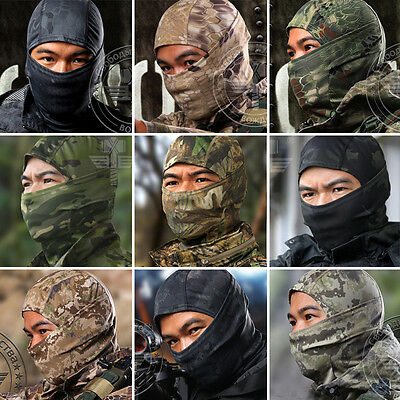 Multicam Camo Cycling Motorcycle Outdoor Balaclava Tactical Full Face Masks