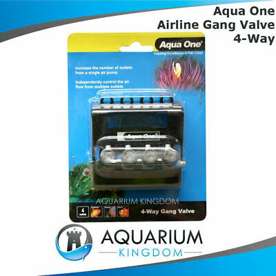 #10317 Aqua One Gang Valve 4 Way - Airline Control Flow of Air Pump Outlet