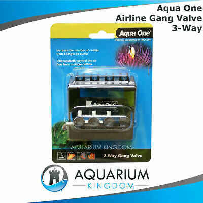 #10316 Aqua One Gang Valve 3 Way - Airline Control Flow of Air Pump Outlet