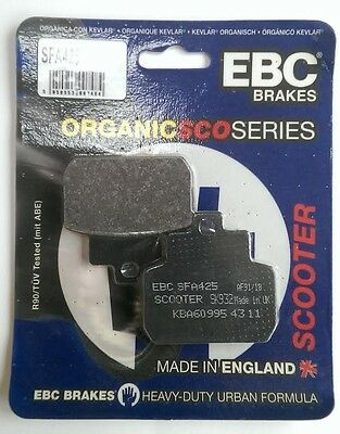 Piaggio X8 250 (2005 to 2007) EBC Organic REAR Disc Brake Pads (SFA425) (1 Set)