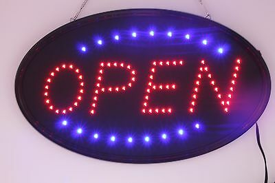 Animated LED Neon Light Business OPEN SIGN with On/Off power Switch
