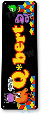 TIN SIGN Q-bert Arcade Shop Game Room Marquee Console Metal Décor Cave A840