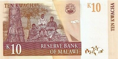 MALAWI  2004 10 KWACHA BANK NOTE in a Protective Sleeve