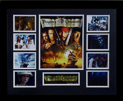 Pirates Of The Caribbean Cast Signed Limited Edition Framed Memorabilia