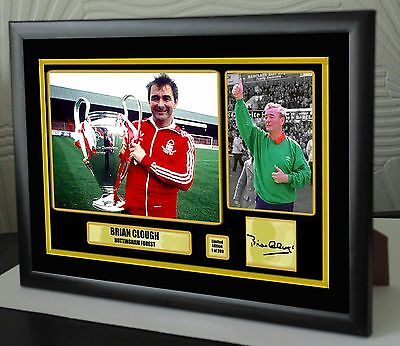 Brian Clough Nottingham Forest Framed Canvas Print Signed Great Gift Ltd Edition