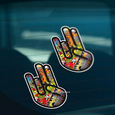 2x STICKER BOMB SHOCKER Funny Car,Window,Bumper DRIFT JDM Vinyl Decal Stickers