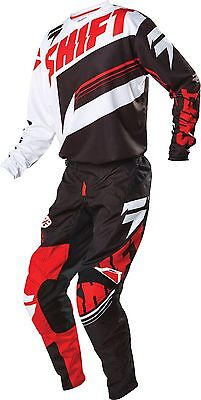 New 2016 Shift Racing Assault Mx Dirtbike Gear Combo Jersey Pant Black White Red