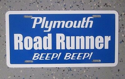 Plymouth ROAD RUNNER license plate tag Blue 1968 1969 1970 1971 1972 1973 1974