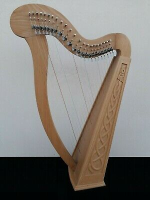 Gevon | 22 Strings Rosewood Irish Harp with Levers, Bag & Booklet | Ragga H8L