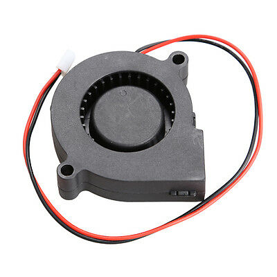 1Pc Brushless DC Cooling Blower Fan 12V 0.06A 50mm x 15mm 2 Pin Connector Black