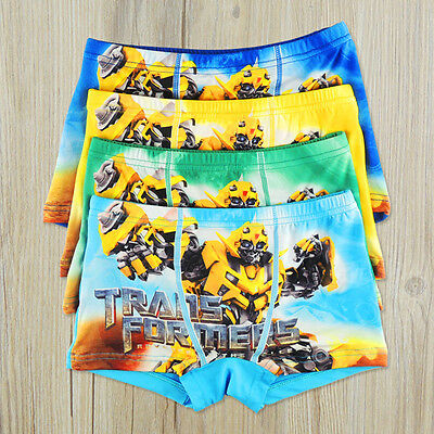 100% Cotton Toddler Boy Transformer cartoon children underpants kids accessories