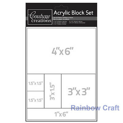 Couture Creations Acrylic Block Set 6 Sizes