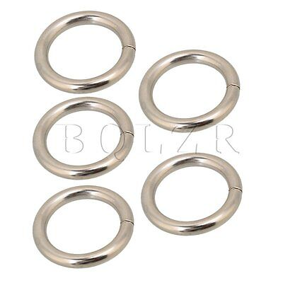 20pcs Silvery Metal O Ring O Shaped Buckle for Bags Purses Backpack Straps