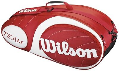 Wilson Team 6 Racket Red and White Bag