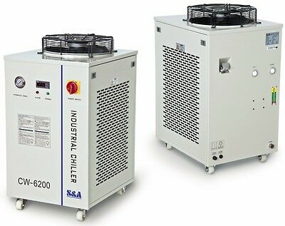 CW-6200AH Industrial Water Chiller for CO2 Laser Tube 5100W cooling capacity