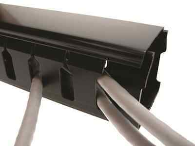 Black Slotted Trunking / Betaduct - Various Sizes - 2m Lengths