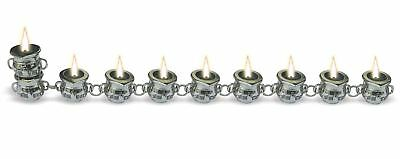 JERUSALEM HANUKKAH Candle Holder Judaica Ornament Jewish Tradition Holiday gift