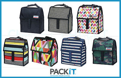 New Packit Personal Cooler Lunch Bag Freeze & Go Pack It Usa - 7 Designs Select
