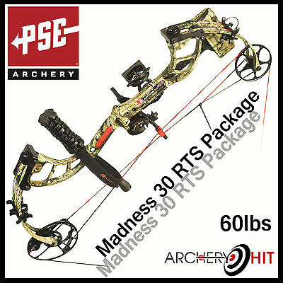 PSE 2015 Madness 30 Compound Bow 60lb RTS Package