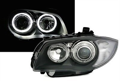 FEUX PHARES LED D1 ANGEL EYES BMW SERIE 1 E81 E87 2004-2011 116i 118d 118i 120d