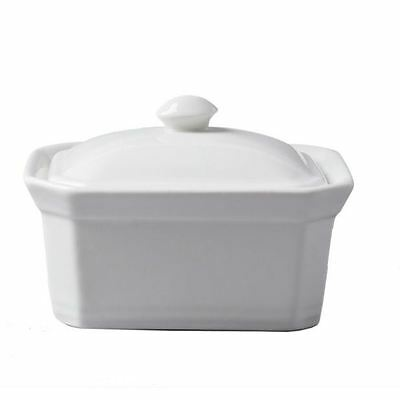 CKS Butter Terrine Dish with Lid White Ceramic