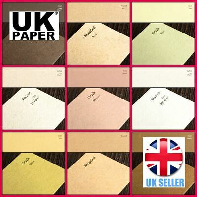 A4 A5 Craft Making Card Stock Blank Organic Kraft Printer Coloured Paper Lot Gsm