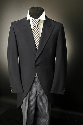 Mj-90 Mens Navy Two Piece Barothea Wool / Formal / Wedding / Morning Suit
