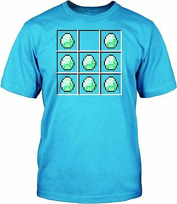 DIAMOND CRAFTING Minecraft Mining Official Kids Youth T Shirt Quality Miners Top