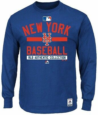 MLB Baseball Long Sleeve Shirt NEW YORK NY METS Authentic Collection '15