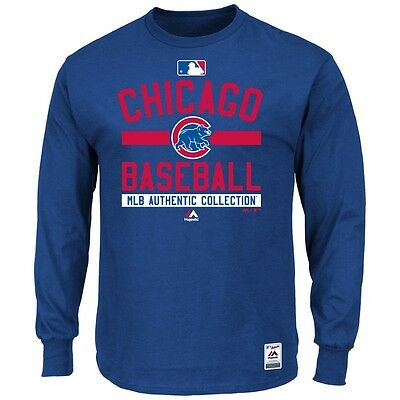 MLB Baseball Long Sleeve Shirt CHICAGO CUBS Authentic Collection '15