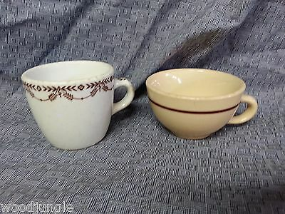 Vintage WALLACE CHINA DESERT WARE  COFFEE CUP RESTAURANT RAILROAD ART DECO