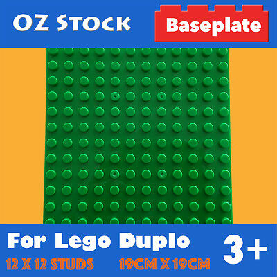BASE PLATE 12x12 STUDS COMPATIBLE FOR LEGO DUPLO BRICKS BASEPLATE SIZE 19CMx19CM