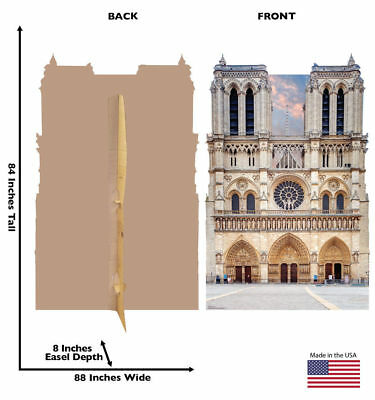 Notre Dame Cathedral Paris France Backdrop Cardboard Standup Standee Cutout Prop