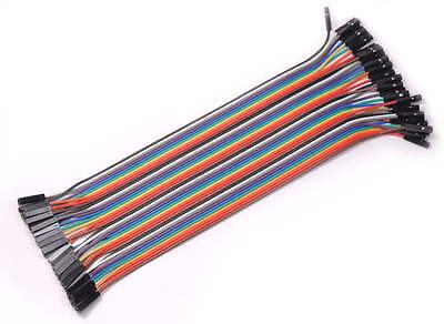 New 40PCS Jumper Wire Cable 1P-1P 2.54mm 20cm For Arduino Breadboard Sale Hot 2Y