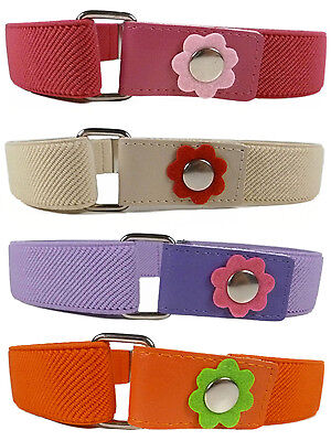 Kids Belts/Girls Belt. Girls 1-6 Years Elasticated Belt with Flower Design