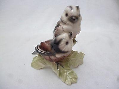 VINTAGE GOEBEL LONG TAIL TIT BIRD FIGURINE -  11cm high - good condition