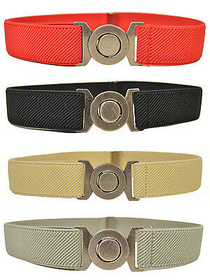 Kids Belt. Childrens 1-6 Years adjustable Elasticated Belt with Round Buckle