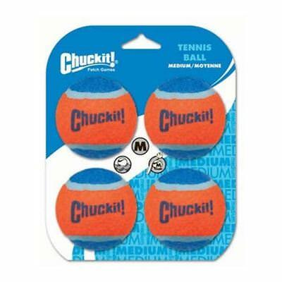 Chuckit Dog Puppy Tennis Ball Medium 4 pack – Extra Thick Bouncing Floating Toy