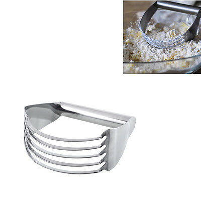 New Durable Stainless Pastry Dough Cutter Blender Mixer Whisk Kitchen