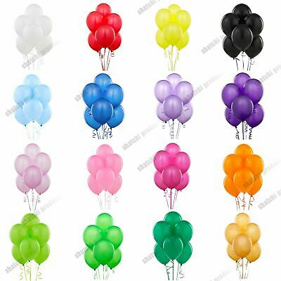 "12"" Plain Latex Balloons Party Decorations Wedding Anniversary Birthday"