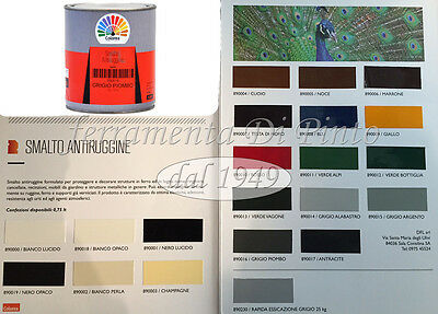 PITTURA SMALTO VERNICE GEL ANTIRUGGINE 2in1 ML 0,750 APPLICABILE SULLA RUGGINE