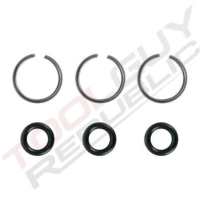 "3/8"" Impact Wrench Socket Retainer Retaining Ring with O-Ring - 3 Sets"