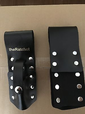 theRatchet: Black Leather Scaffold Wrench/ Ratchet / Podger / Spanner Holder