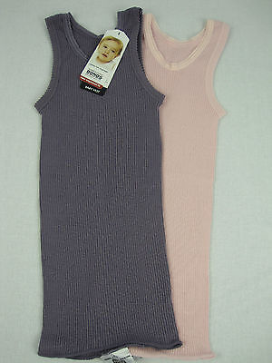 Bonds Baby Newbies 2 Pack Baby Vest Singlets sizes 000 00 0 1 Purple / Pink