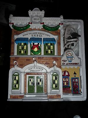 Dept 56 Snow Village buildings -cop on beat- cumberland house- police station