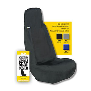 HDD Universal Fit Front Car Seat Cover BLACK 201 Heavy Duty Designs