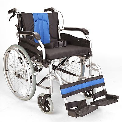 "Lightweight folding self propel wheelchair with hand brakes & 20"" wide seat"